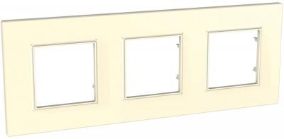 Schneider Electric Unica Quadro Бежевый Рамка 3-ая купить в интернет-магазине Азбука Сантехники