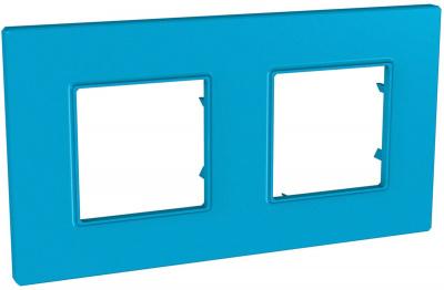 Schneider Electric Unica Quadro Natura Aqua/ Голубика Рамка 2-ая купить в интернет-магазине Азбука Сантехники