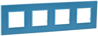 Schneider Electric Unica Quadro Natura Aqua/ Голубика Рамка 4-ая купить в интернет-магазине Азбука Сантехники