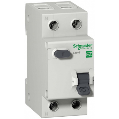 Schneider Electric Easy 9 Дифавтомат 1P+N 25A (C) 4,5kA тип AC 30mA купить в интернет-магазине Азбука Сантехники