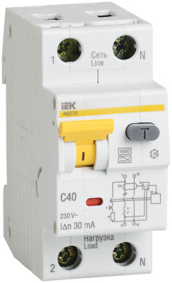 IEK АВДТ32 Дифавтомат 1P+N 20A (C) 6kA тип A 30mA купить в интернет-магазине Азбука Сантехники