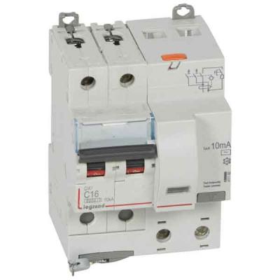 Legrand DX3 Дифавтомат 2P 16A (C) 6kA тип AС 10mA купить в интернет-магазине Азбука Сантехники