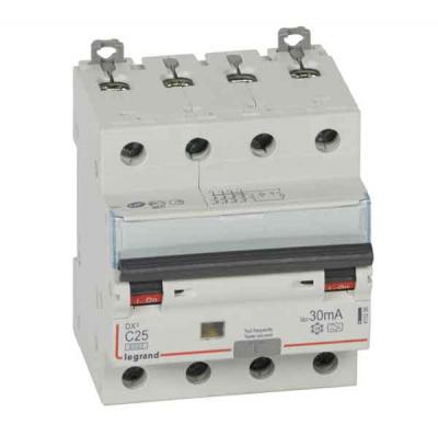 Legrand DX3 Дифавтомат 4P 25A (C) 6kA тип A 30mA купить в интернет-магазине Азбука Сантехники