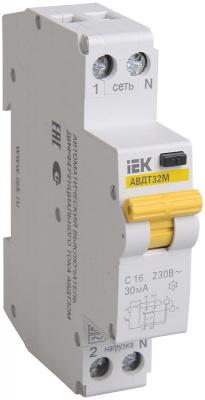 IEK АВДТ32М Дифавтомат 1P+N 32A (С) 4,5kA тип AC 100mA купить в интернет-магазине Азбука Сантехники