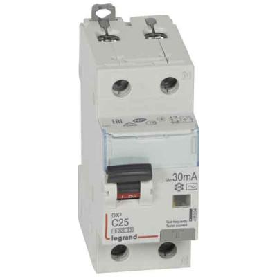 Legrand DX3 Дифавтомат 1P+N 25A (C) 6kA тип AС 30mA купить в интернет-магазине Азбука Сантехники
