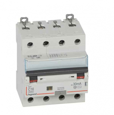 Legrand DX3 Дифавтомат 4P 16A (C) 6kA тип AС 30mA купить в интернет-магазине Азбука Сантехники
