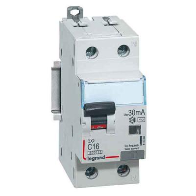 Legrand DX3 Дифавтомат 1P+N 16A (C) 6kA тип AС 10mA купить в интернет-магазине Азбука Сантехники