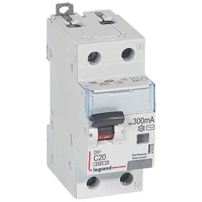 Legrand DX3 Дифавтомат 1P+N 20A (C) 6kA тип AС 300mA купить в интернет-магазине Азбука Сантехники