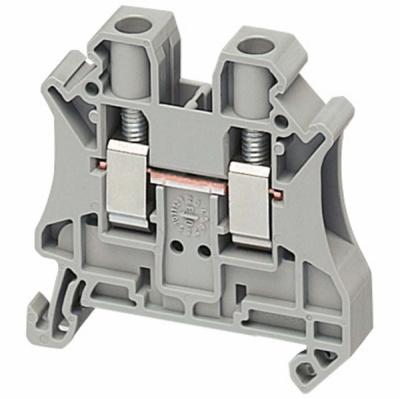 Schneider Electric Клеммник винтовой проходной сечением провода 6мм2 2 точки подключения серый купить в интернет-магазине Азбука Сантехники