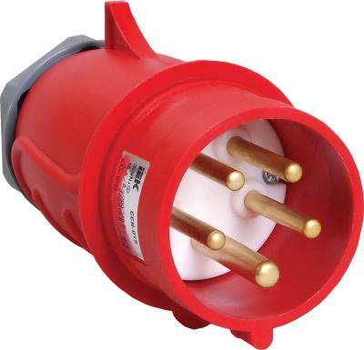 IEK Magnum ССИ-015 Вилка переносная 3P+РЕ+N 16A/380V IP44 красный купить в интернет-магазине Азбука Сантехники