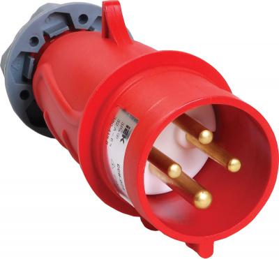 IEK Magnum ССИ-024 Вилка переносная 3P+РЕ 32A/380V IP44 красный купить в интернет-магазине Азбука Сантехники