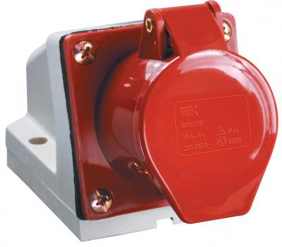 IEK ССИ-124 Розетка стационарная 3P+РЕ 32A/380V IP44 красный купить в интернет-магазине Азбука Сантехники