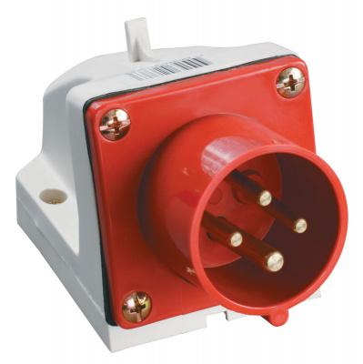 IEK ССИ-524 Вилка стационарная 3P+PE 32A/380V IP44 красный купить в интернет-магазине Азбука Сантехники