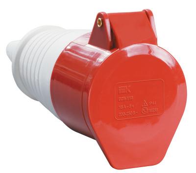 IEK ССИ-224 Розетка переносная 3P+РЕ 32A/380V IP44 красный купить в интернет-магазине Азбука Сантехники