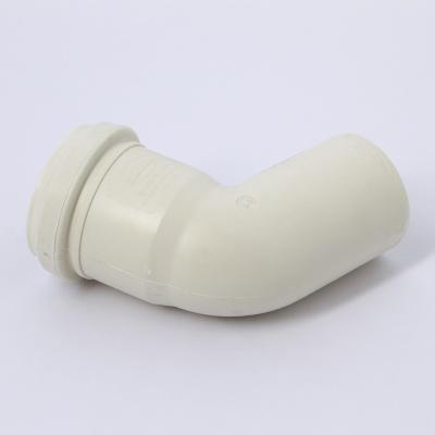 Отвод Sinikon Комфорт Ø 50 мм × 67° полипропиленовый белый купить в интернет-магазине Азбука Сантехники