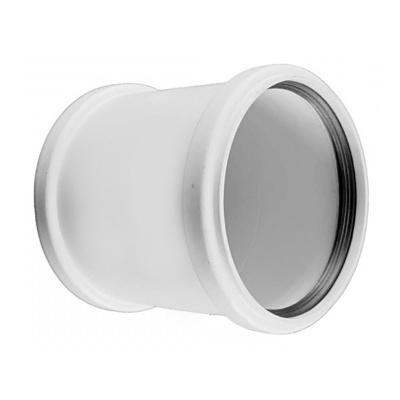 Муфта двухраструбная Sinikon Комфорт Ø 110 мм полипропиленовая белая купить в интернет-магазине Азбука Сантехники