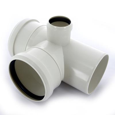 Крестовина правая двухплоскостная Sinikon Комфорт Ø 110 × 110 × 50 мм × 87° полипропиленовая белая купить в интернет-магазине Азбука Сантехники