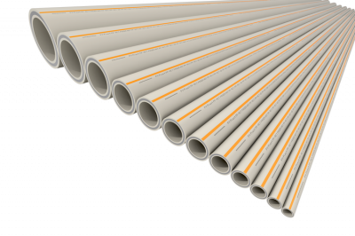 Труба полипропиленовая армированная PP-RCT FV-plast FASER HOT Ø 110 × 12,3 мм со стекловолоконным слоем (штанга 4м) купить в интернет-магазине Азбука Сантехники