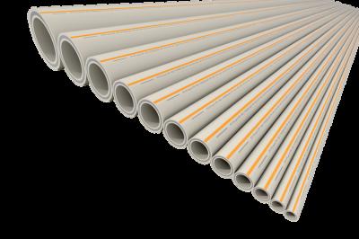 Труба полипропиленовая армированная PP-RCT FV-plast FASER HOT Ø 50 × 5,6 мм со стекловолоконным слоем (штанга 4м) купить в интернет-магазине Азбука Сантехники