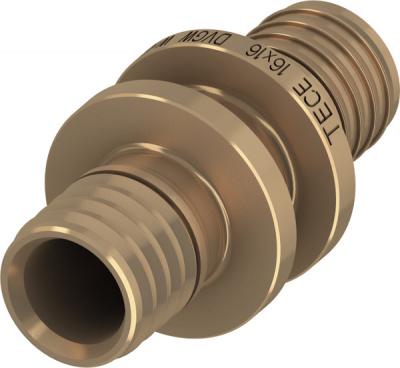 Соединение прямое TECE TECEflex труба-труба 16 × 16 мм, бронза купить в интернет-магазине Азбука Сантехники