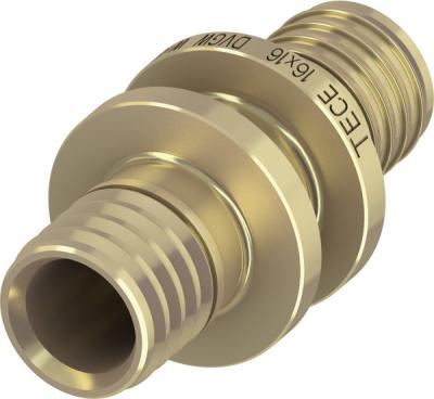 Соединение прямое TECE TECEflex труба-труба 50 × 50 мм, латунь купить в интернет-магазине Азбука Сантехники