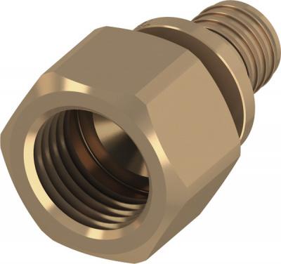 Соединение прямое с внутренней резьбой (муфта) TECE TECEflex, 63 × 2' , бронза купить в интернет-магазине Азбука Сантехники